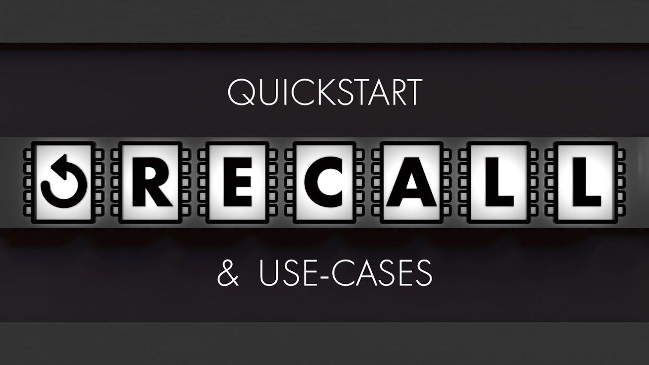 rocketlasso_recall tutorial