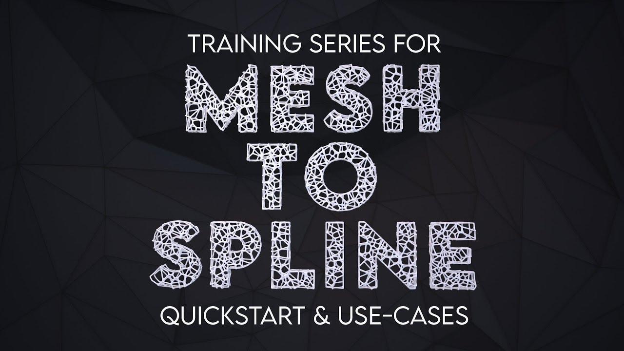 mesh to spline tutorial